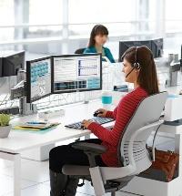 Ergonomic chair, monitor arm