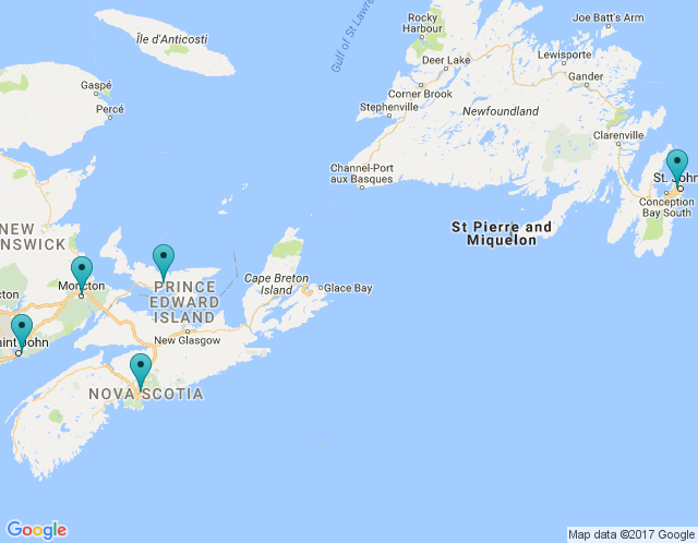 Map of Halifax/Dartmouth | Nova Scotia